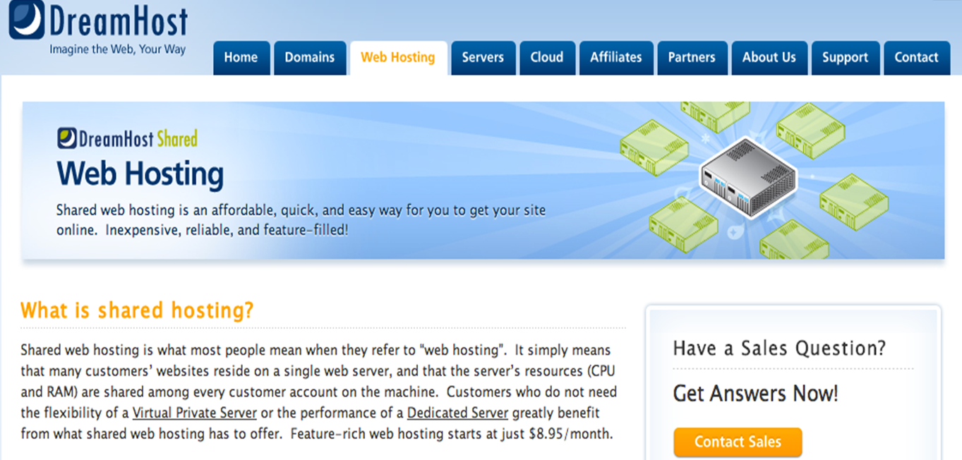 dreamhost hosting services