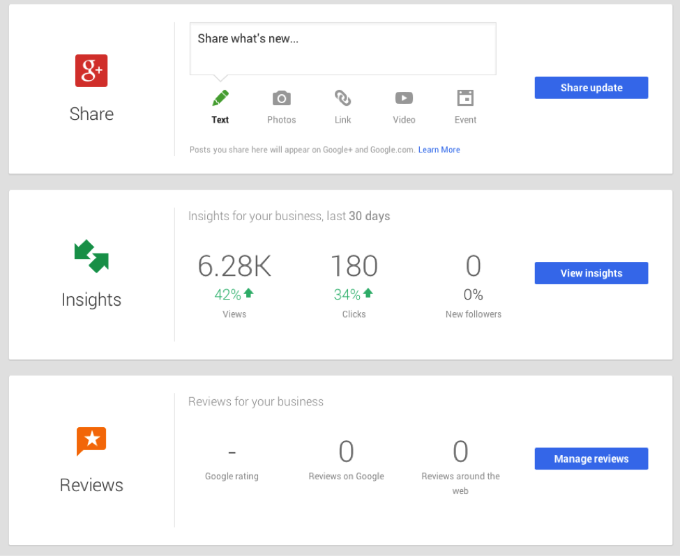 google business reviews page