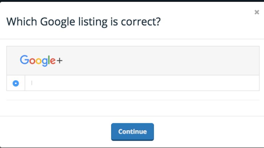 google listing correct