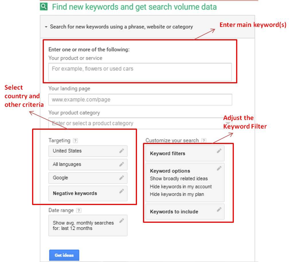 keyword planner guide