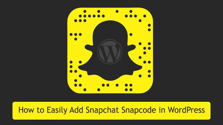 How to add Snapchat Snapcode in WordPress using a widget