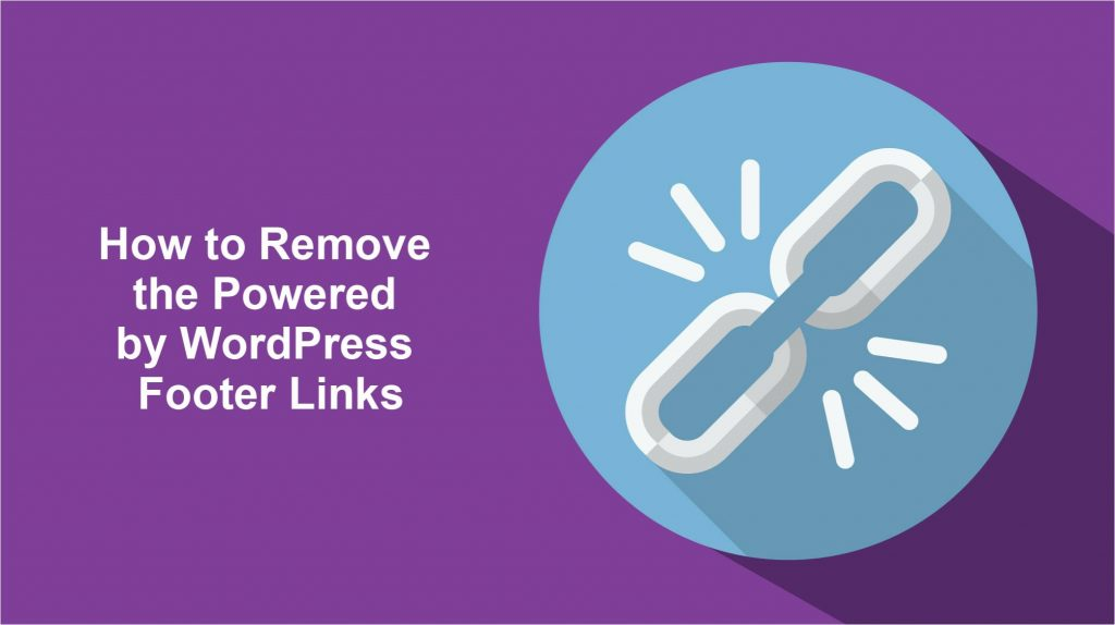 remove powered by wordpress footer links